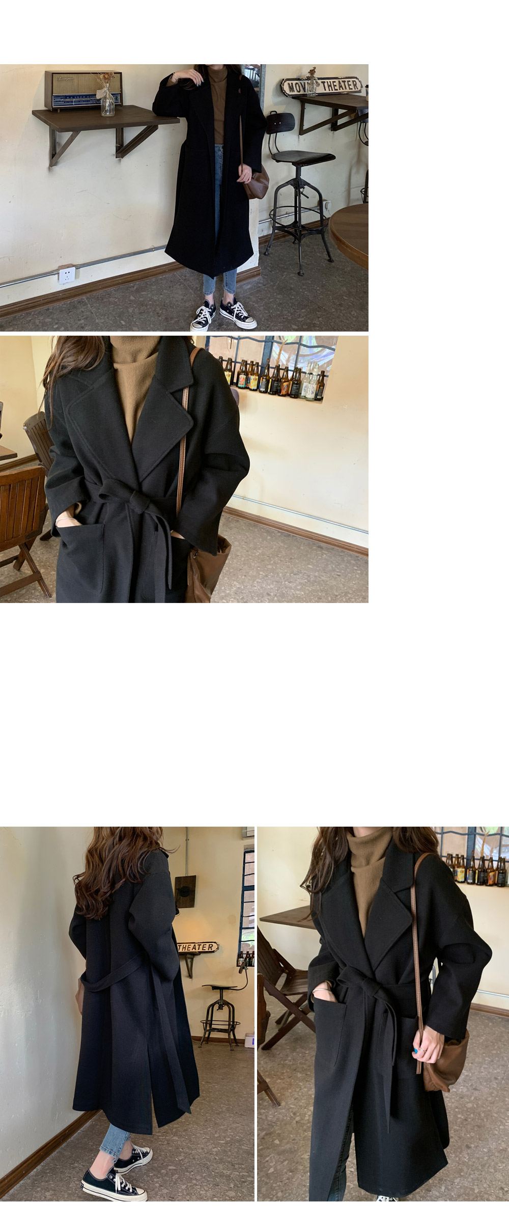 Herpes quilted strap coat