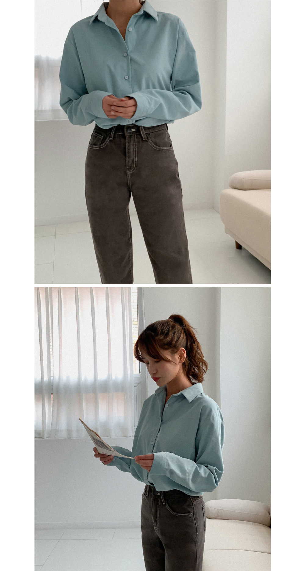 Daily stitched brushed jeans