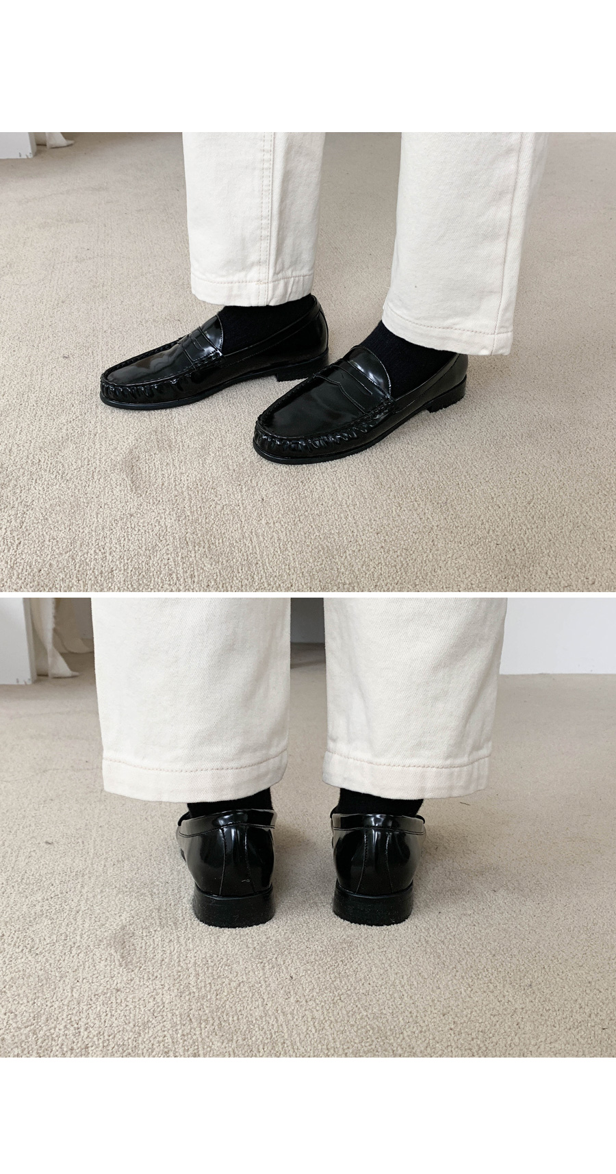 Simple leather loafers