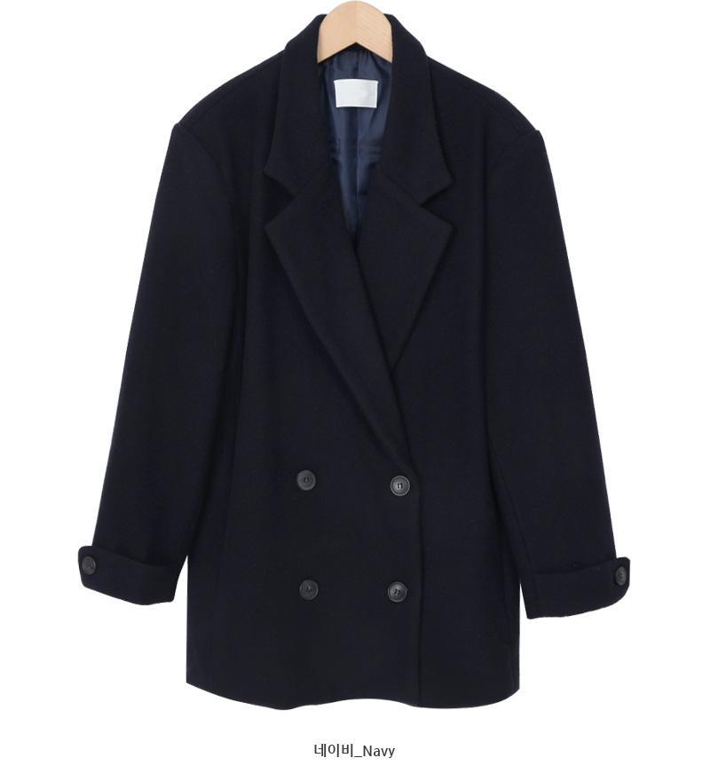 Herringbone wool double jacket_U (size : free)