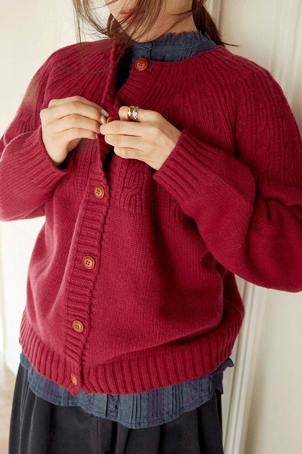 knitting round cardigan (3colors)