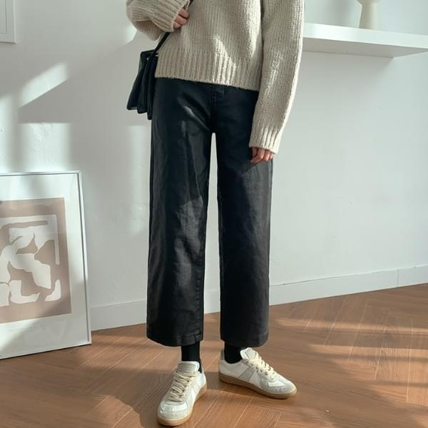 Info brushed coating pants