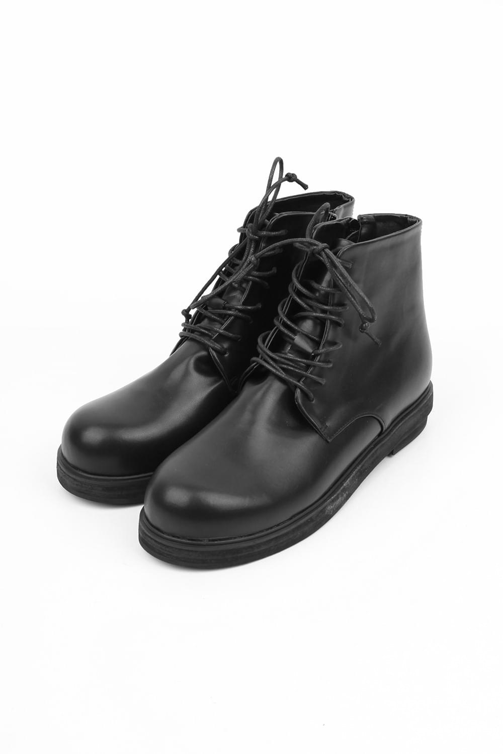 rounded edge middle boots (black)