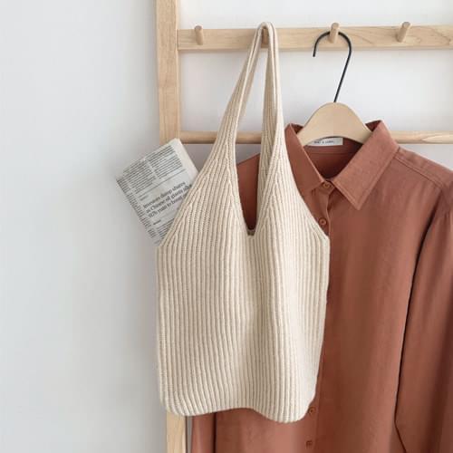 Bonnie Knit Bag-Light Beige