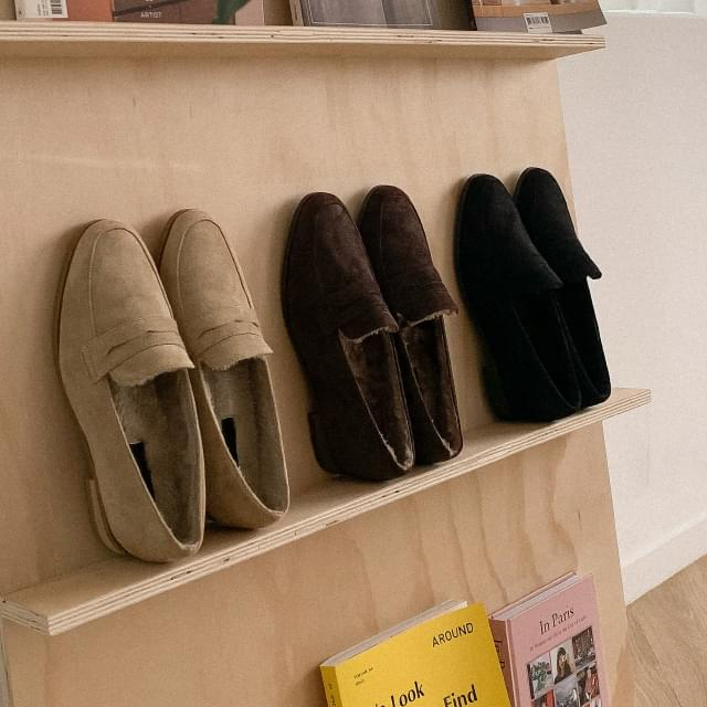 Suede fur loafers 樂福鞋