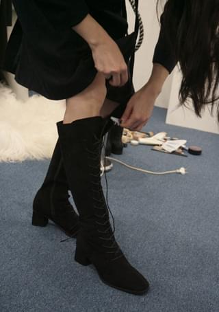 suede walker long boots