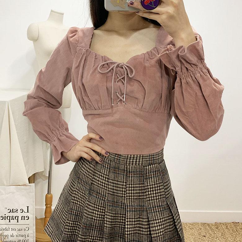 Sandy corset golden den crop blouse