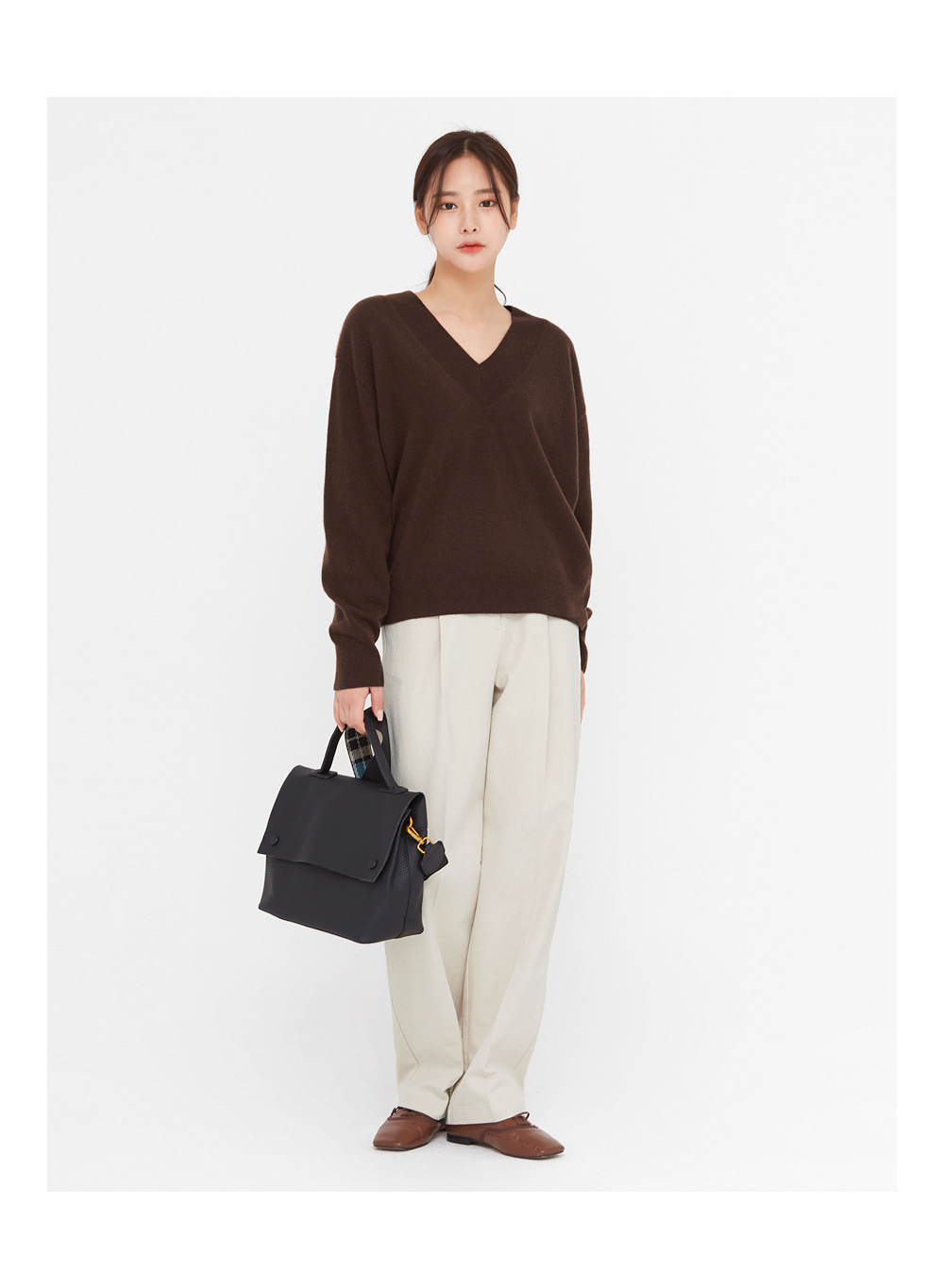 marie wool v-neck knit