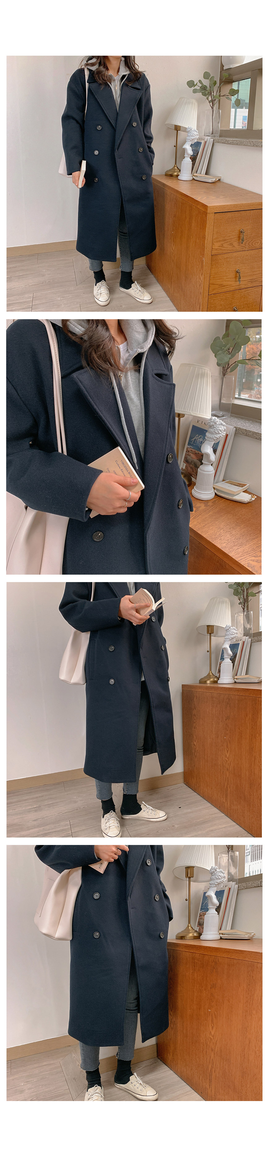 Daily brushed hood zip up jumper-2color