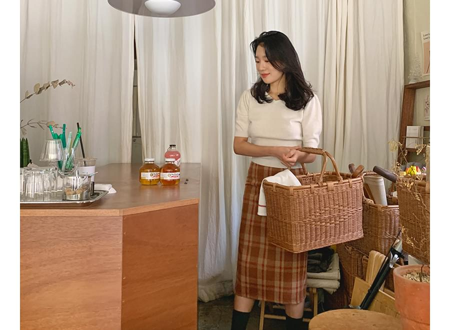 Angora puff short knit_Y (울 30%, 앙고라 20%) (size : free)