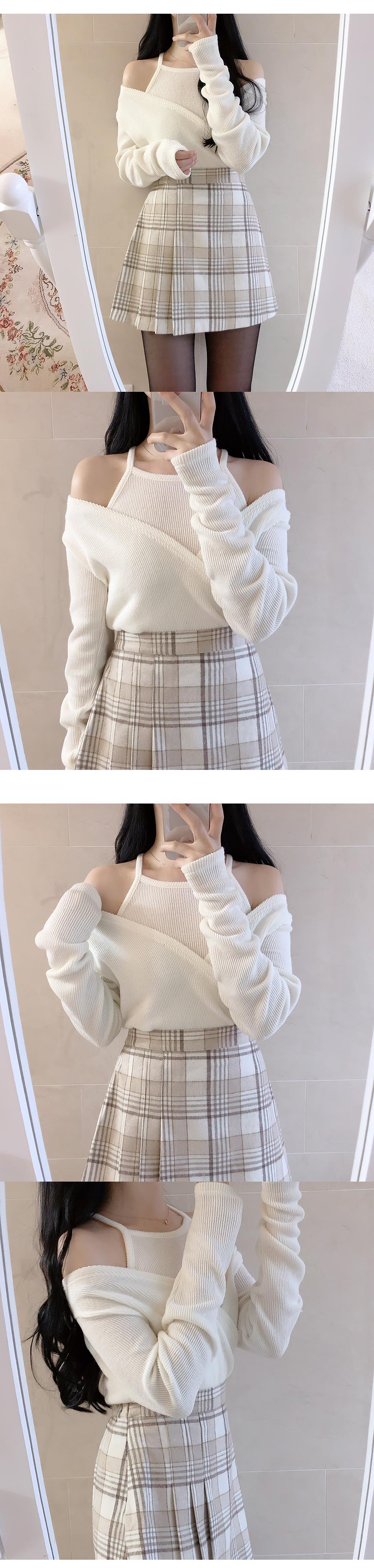 Vanilla Check Skirt Pants