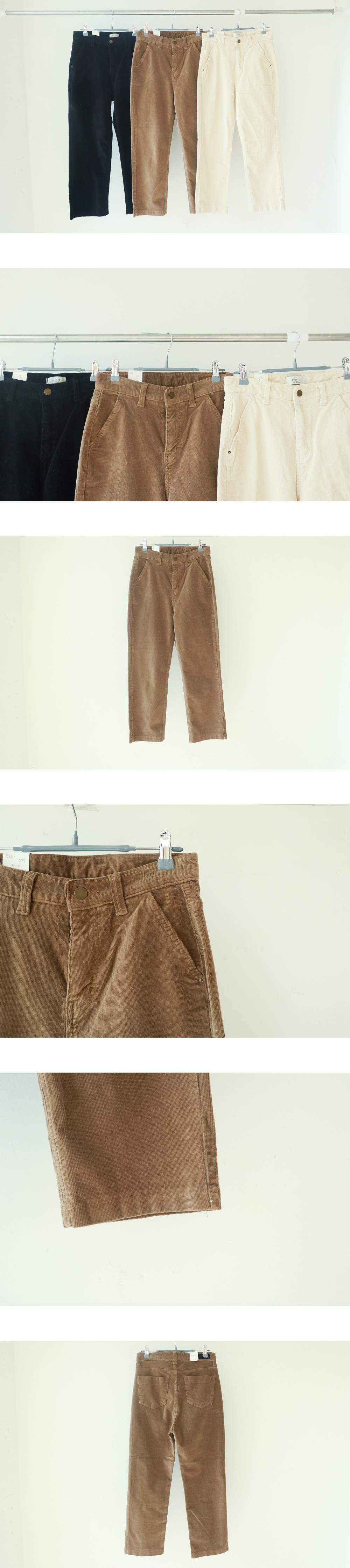 077 corduroy straight pants