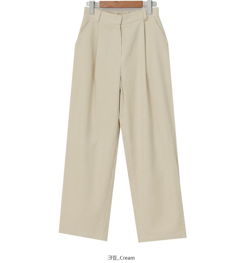 Corduroy one pintuck pants_U