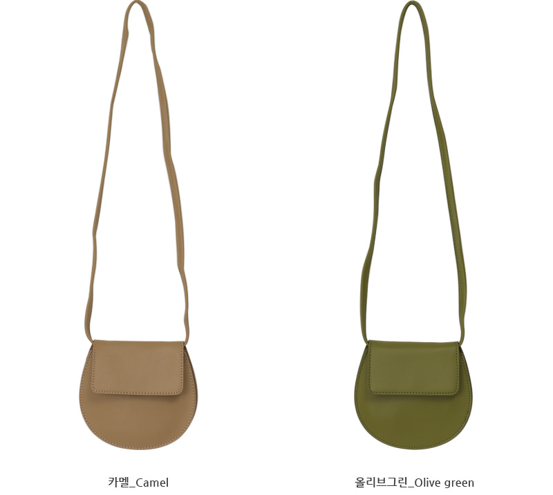 Flat round cross bag_A (size : one)