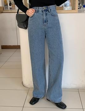 Wide long denim pants_J