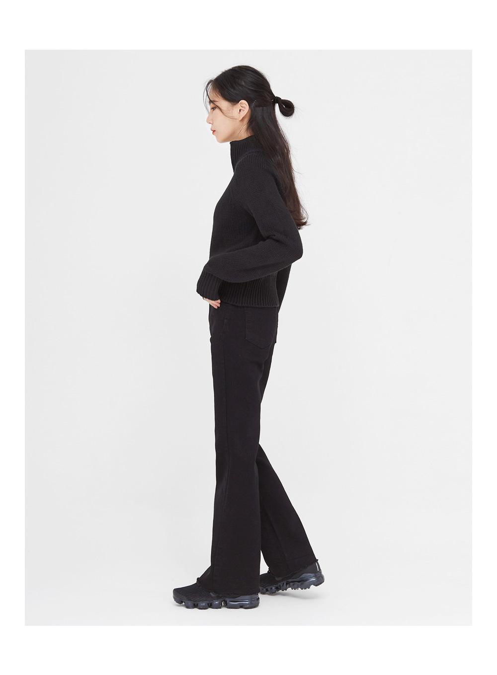 doll semi bootscut cotton pants (25-29)
