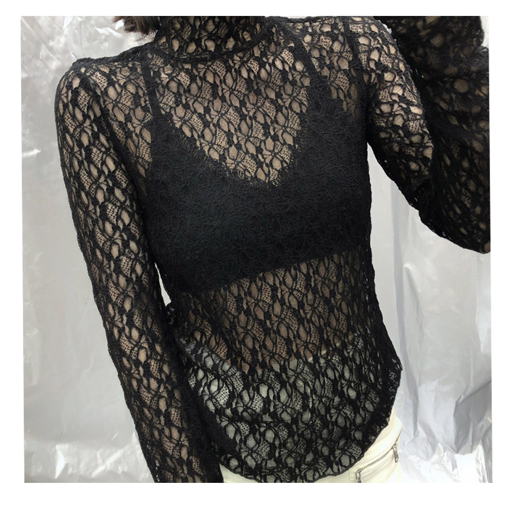 Doat See-Through Lace Blouse