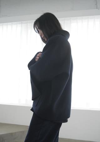 calm over handmade half coat