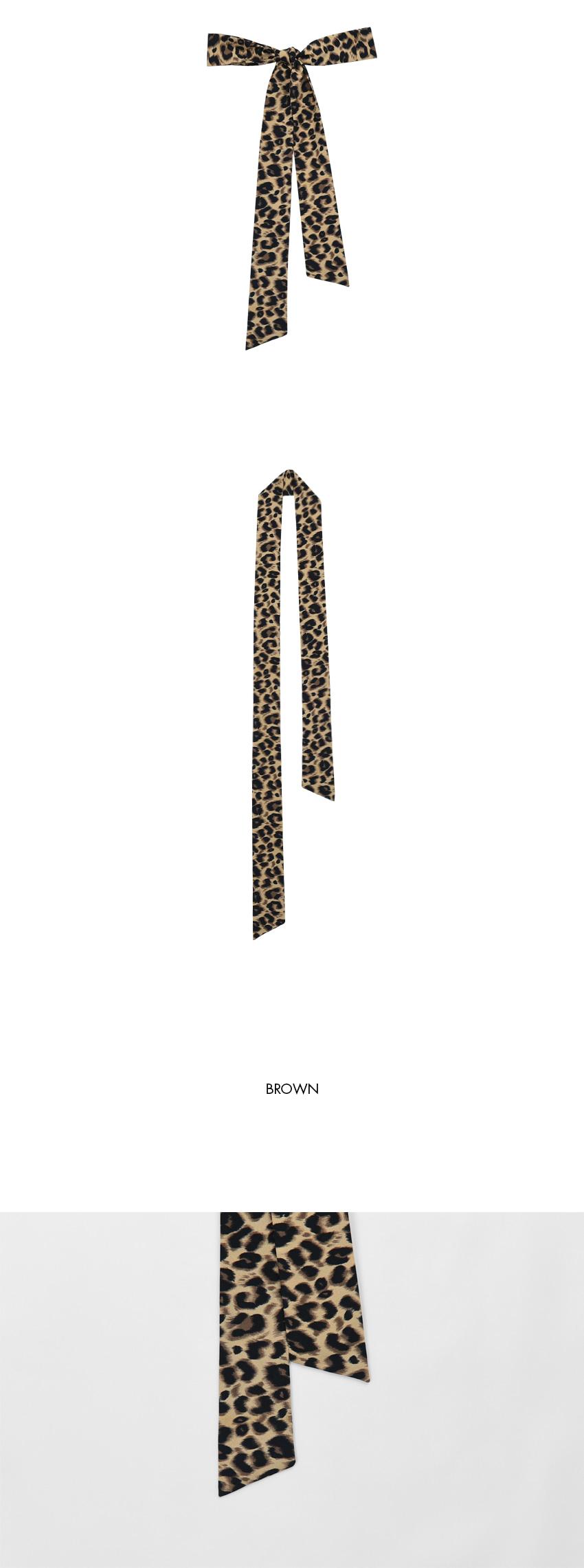 Leopard ribbon scarf