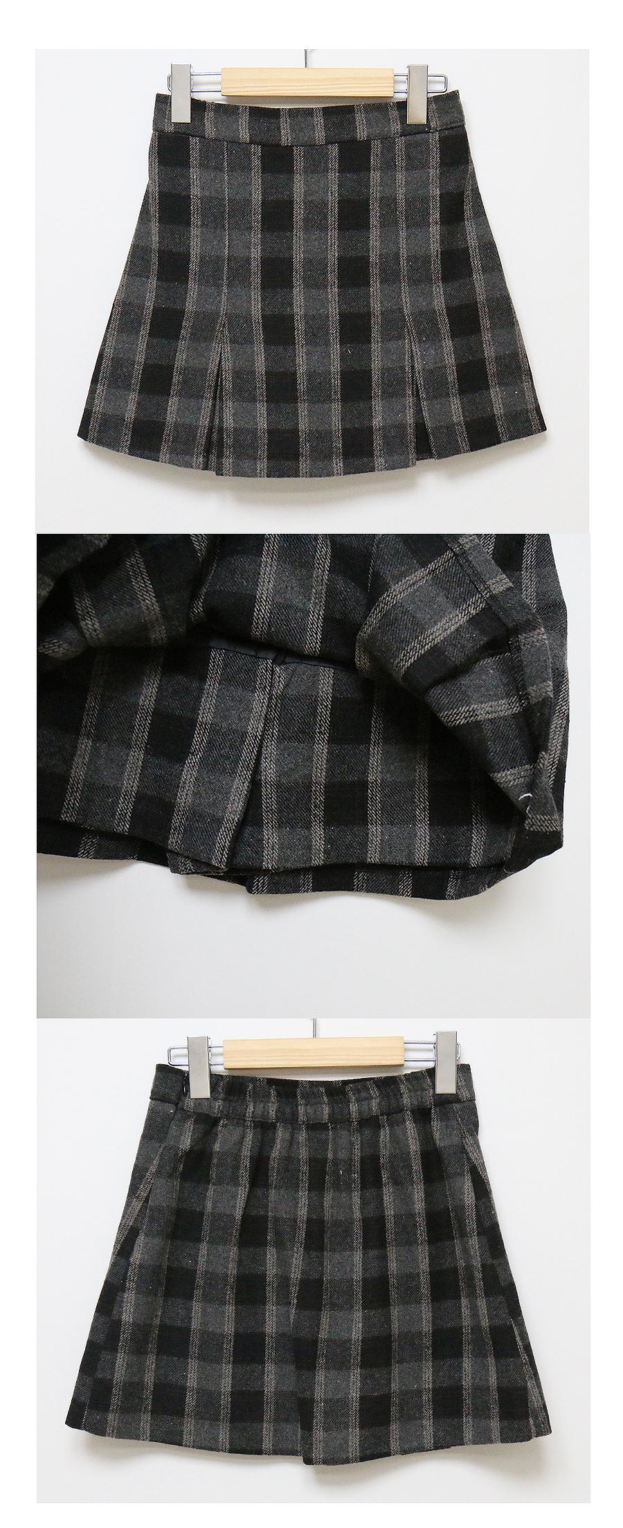 Cook check skirt pants