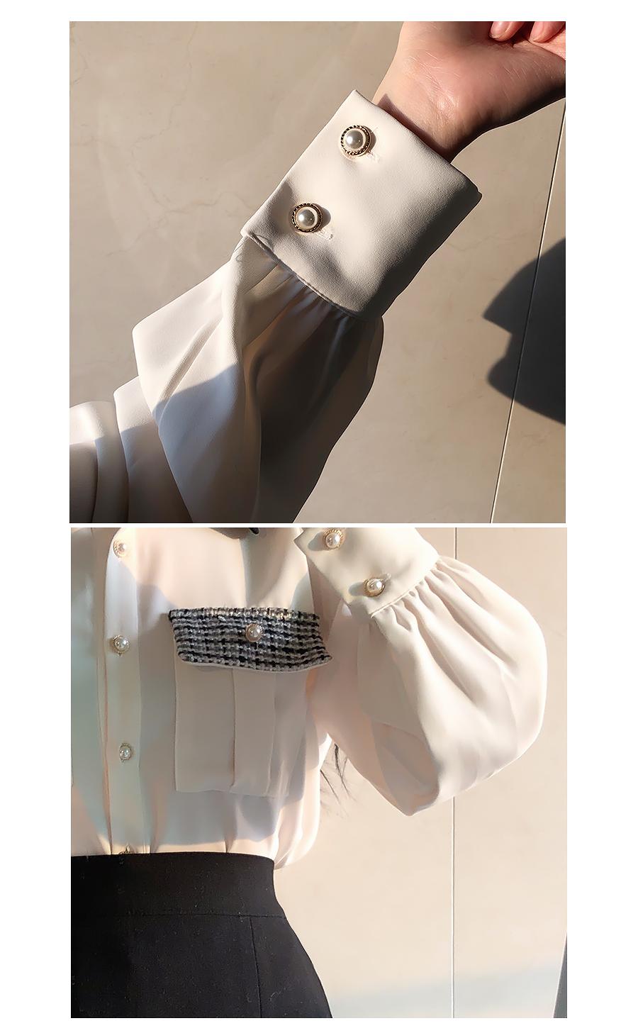 Fran tweed pocket blouse