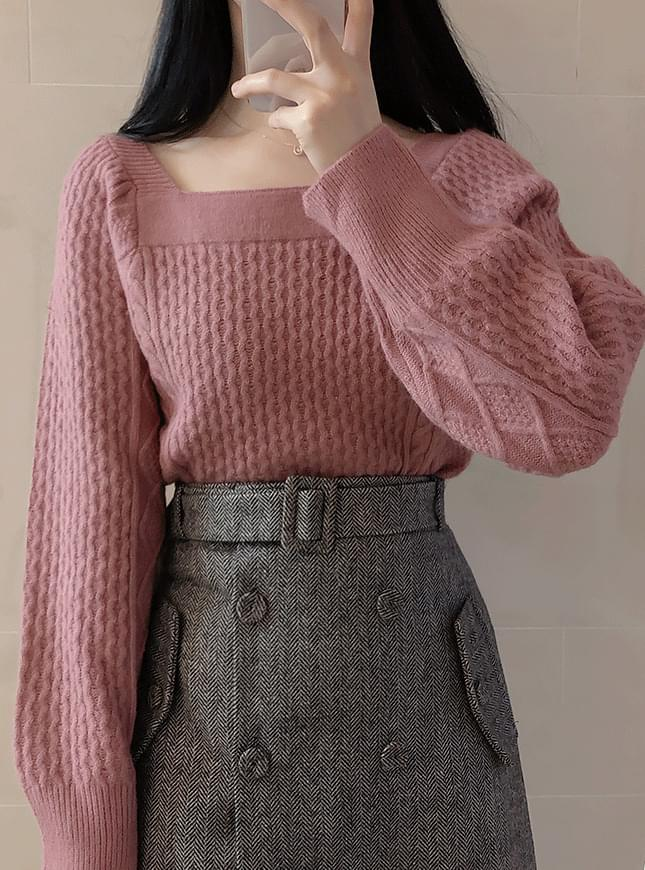 Anna Pretzel Square Knit 針織衫