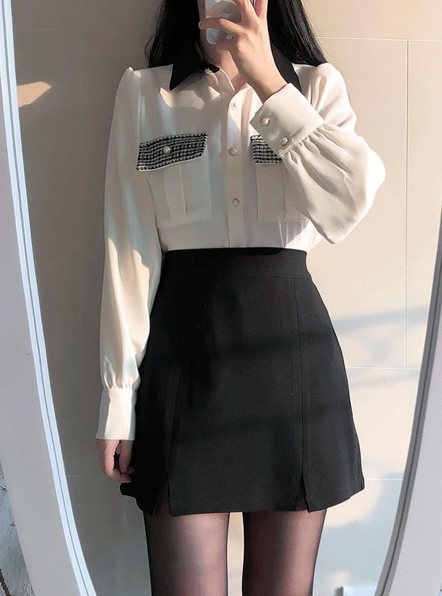 Fran tweed pocket blouse 襯衫