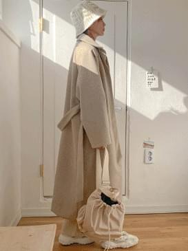 Hidden duck single long coat coat