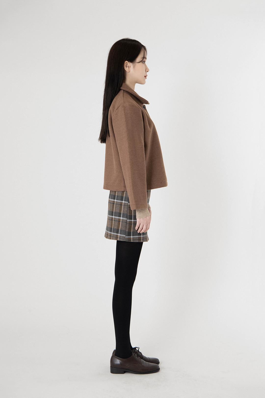 Binz check mini skirt