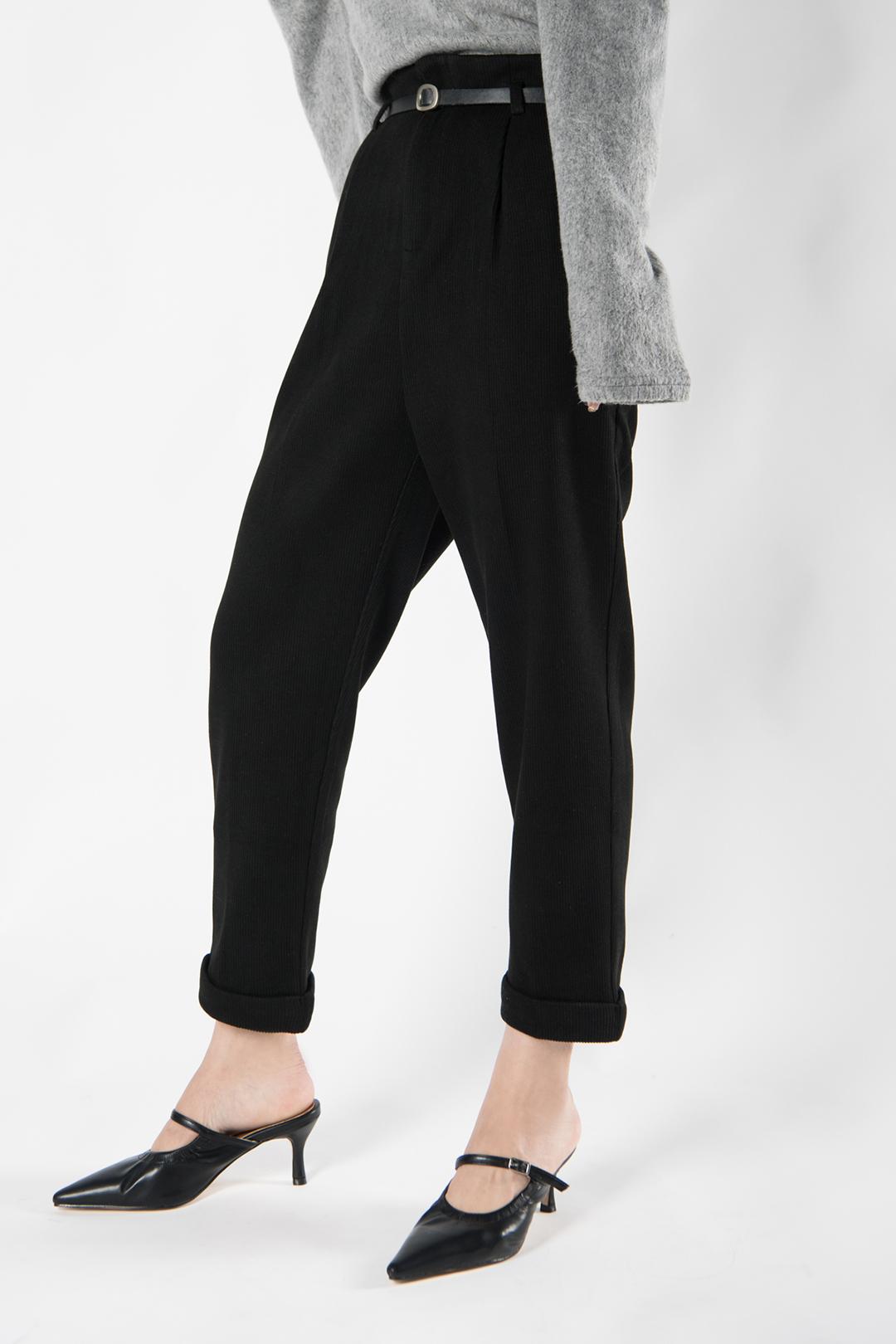 Corduroy belt slacks