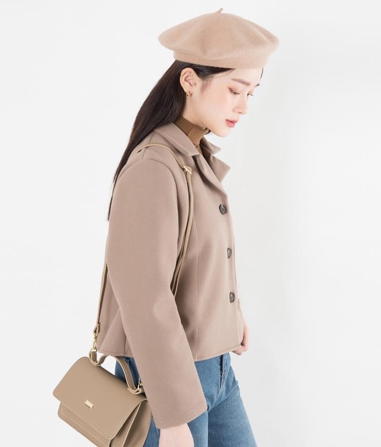 Wool tap beret 帽子