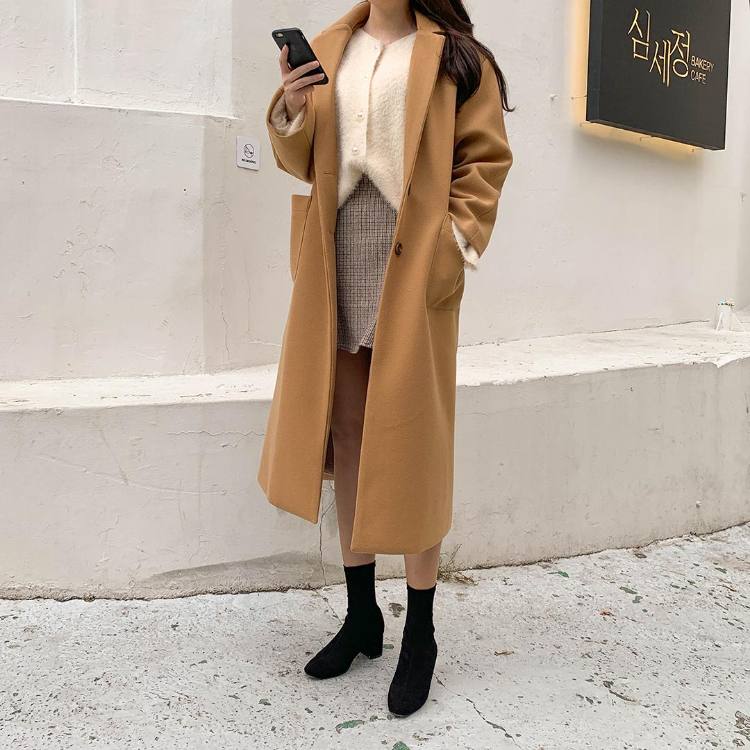 Simply long coat