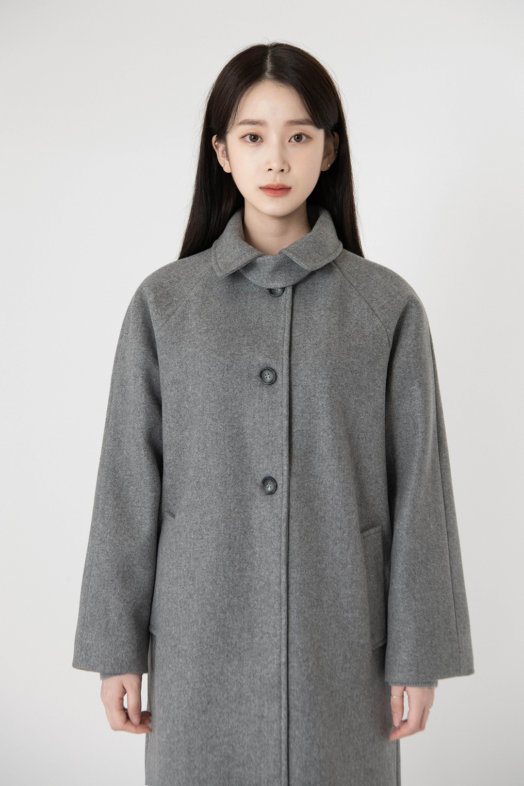 Soft Cheese Wool Long Coat