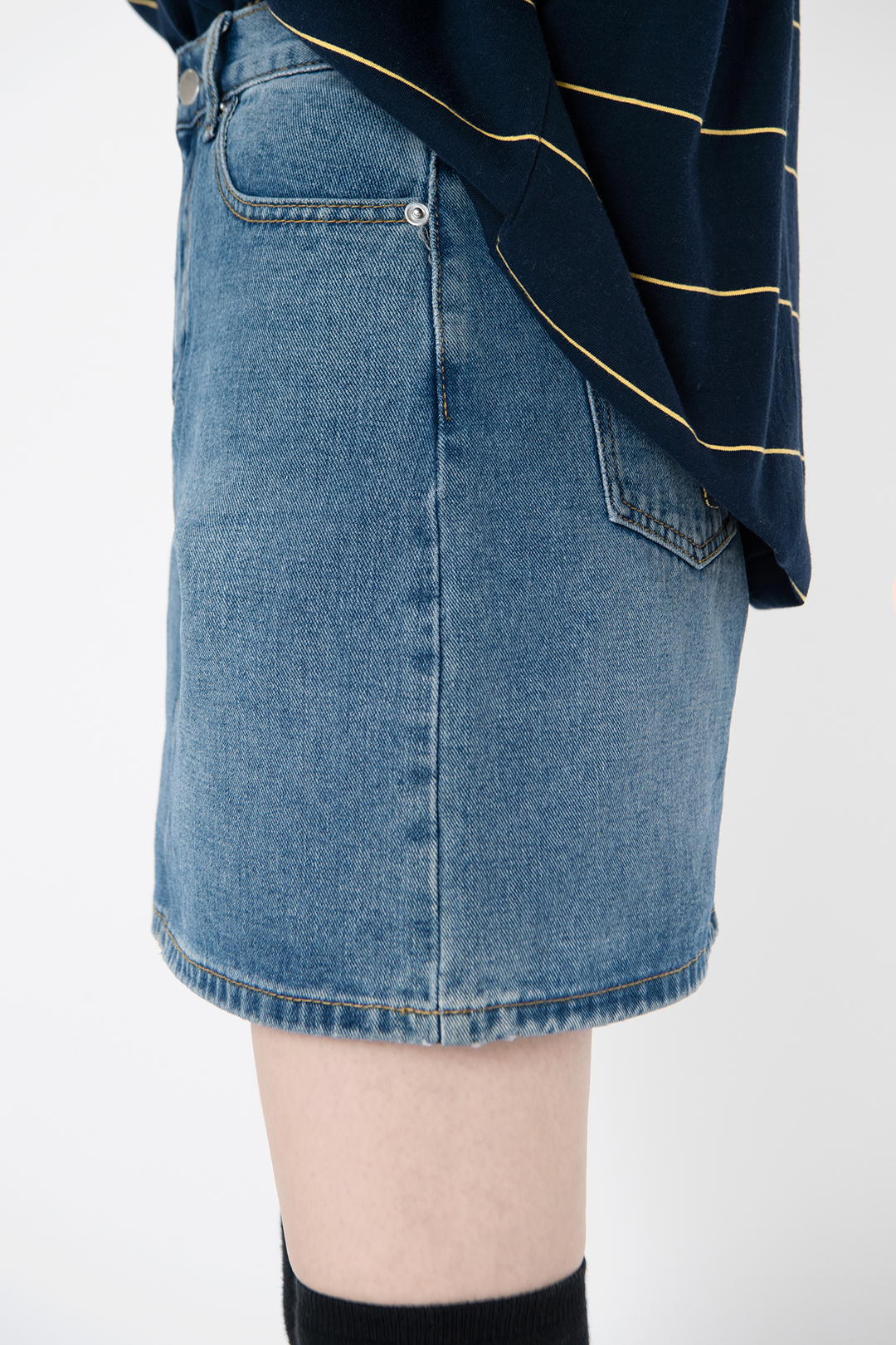 Ruble denim skirt