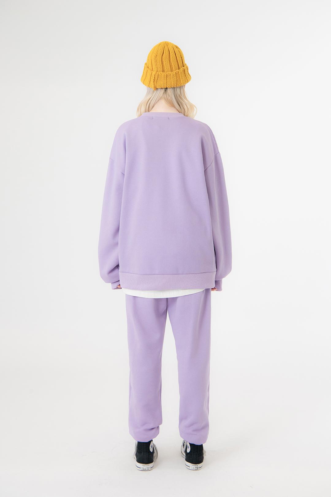 UT8 Street Sweat Shirt UT8 Street Long Pants (Light Purple)SET