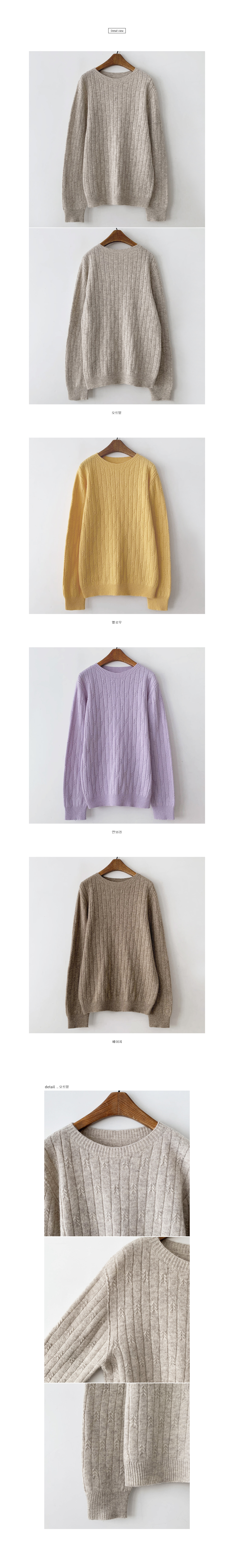 K Whole garment round knit