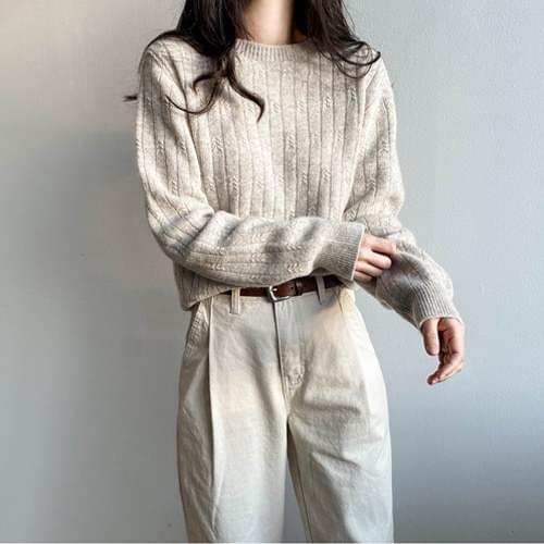 K Whole garment round knit knitwears