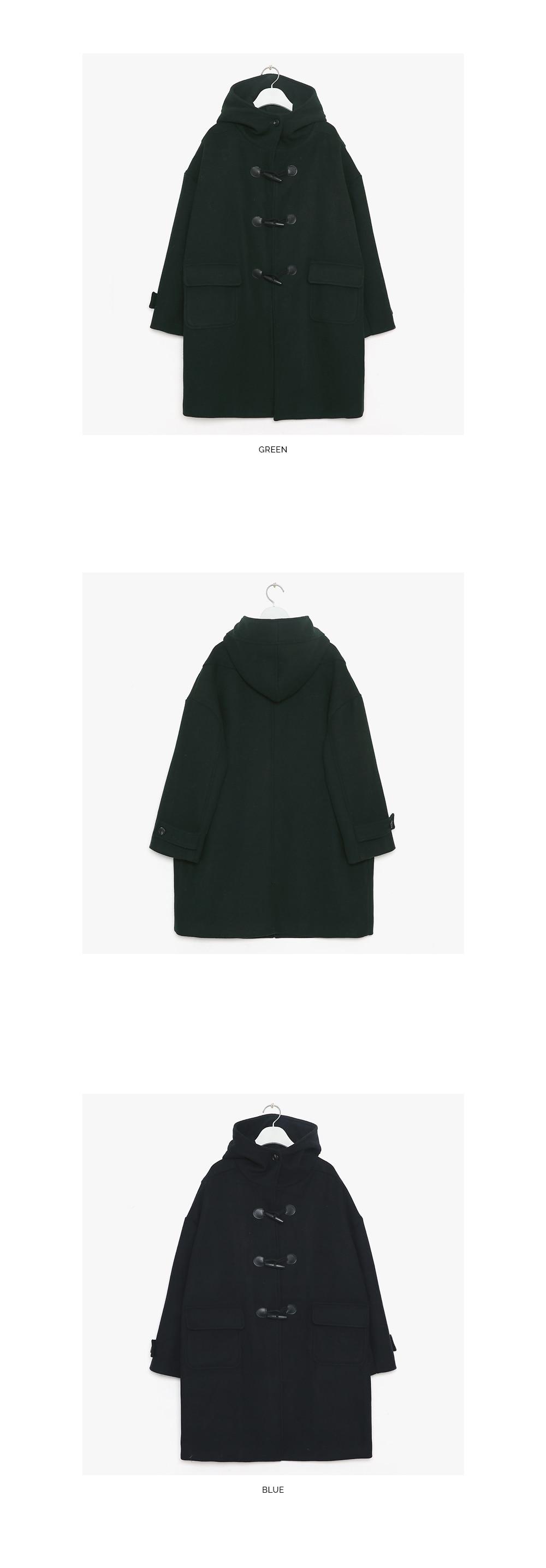 deeper wool napping duffle coat