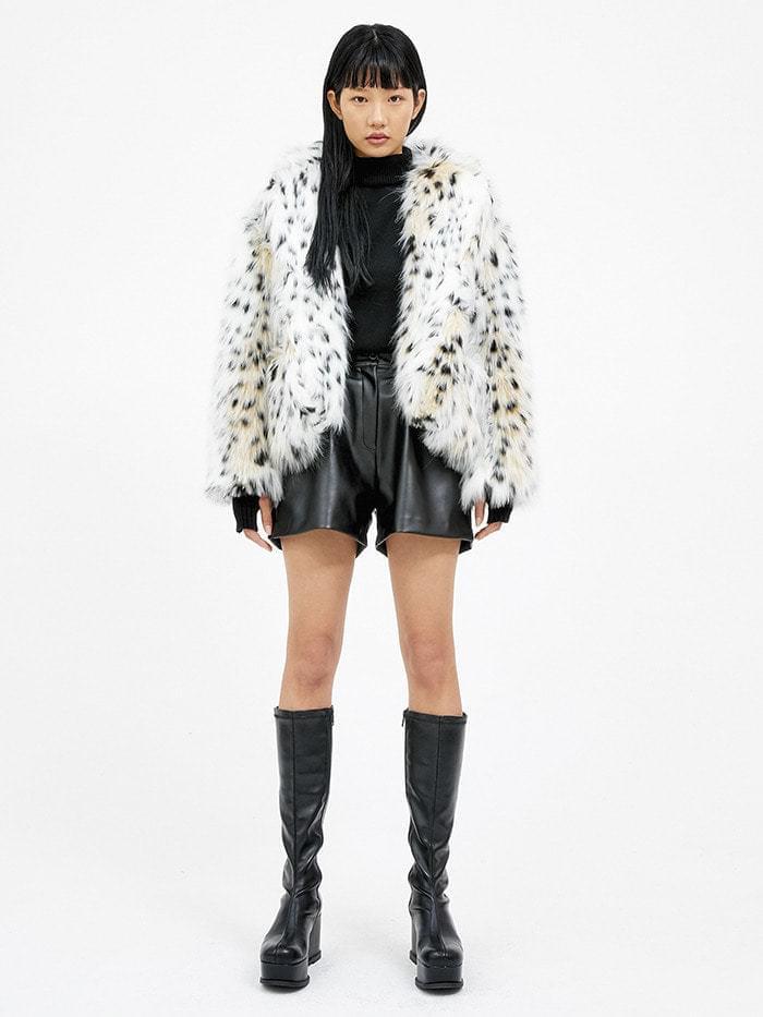 leopard fur jacket - woman