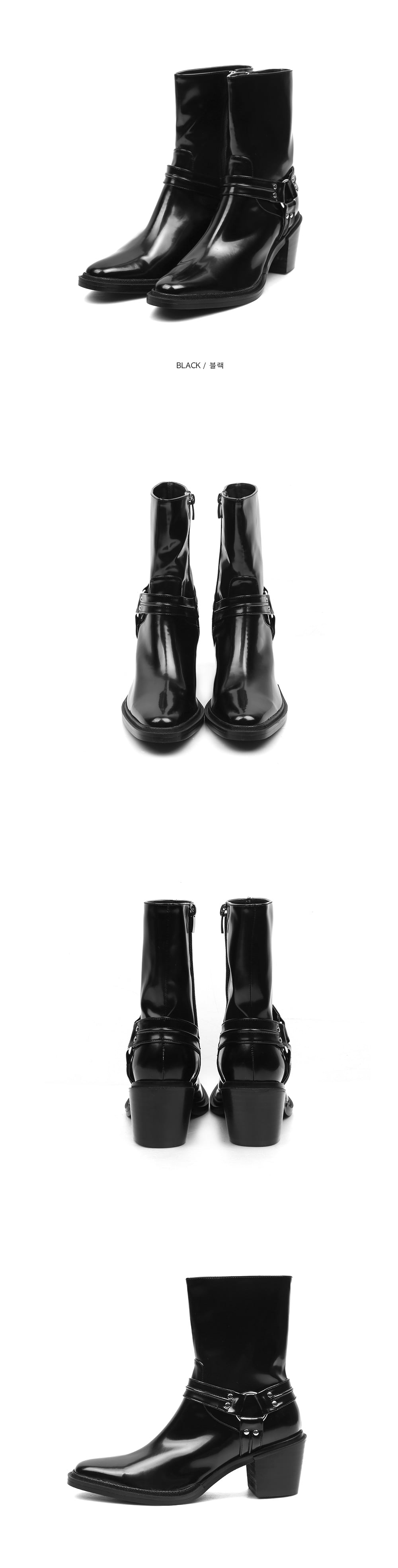 ACIDITY - WESTERN SLIM LEATHER ANKLE BOOTS