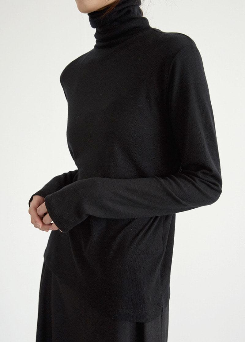 Double polar neck top 長袖上衣