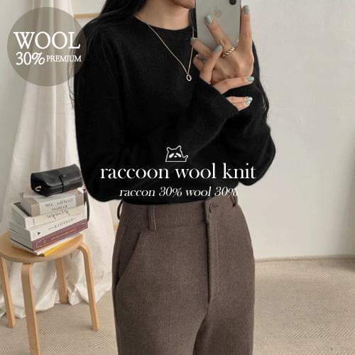 Raccoon Coco Round Knit