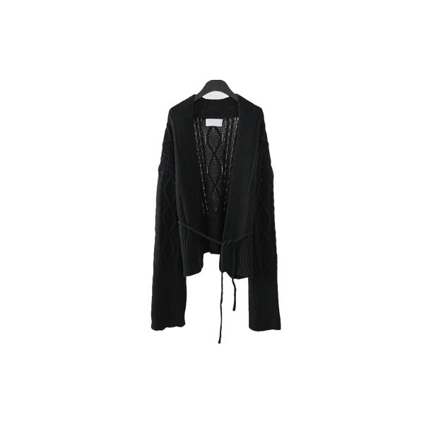 woolen robe knit cardigan