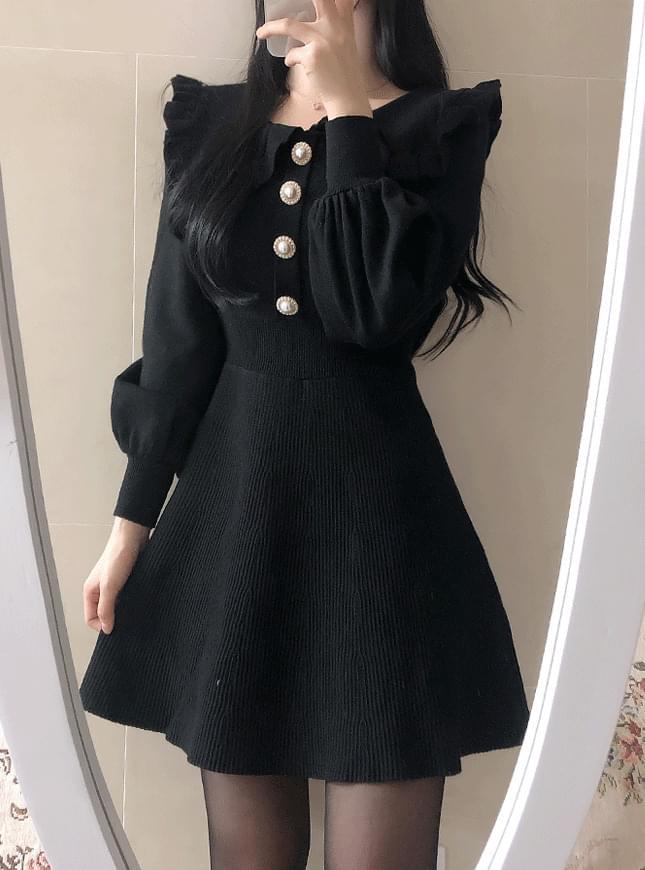 Lyrin Pearl Knit Dress ワンピース