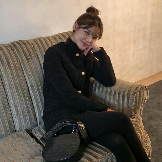 Tweed cropped wool short jacket-jk 夾克外套