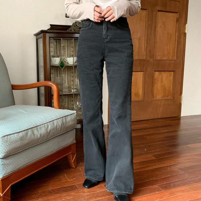 High West Bootcut Maxi Black Jeans-pt