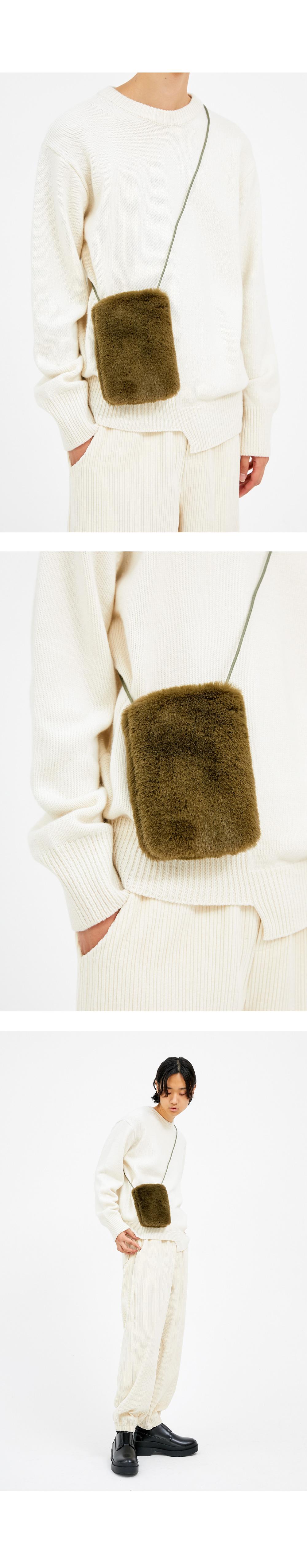 fur cross mini bag