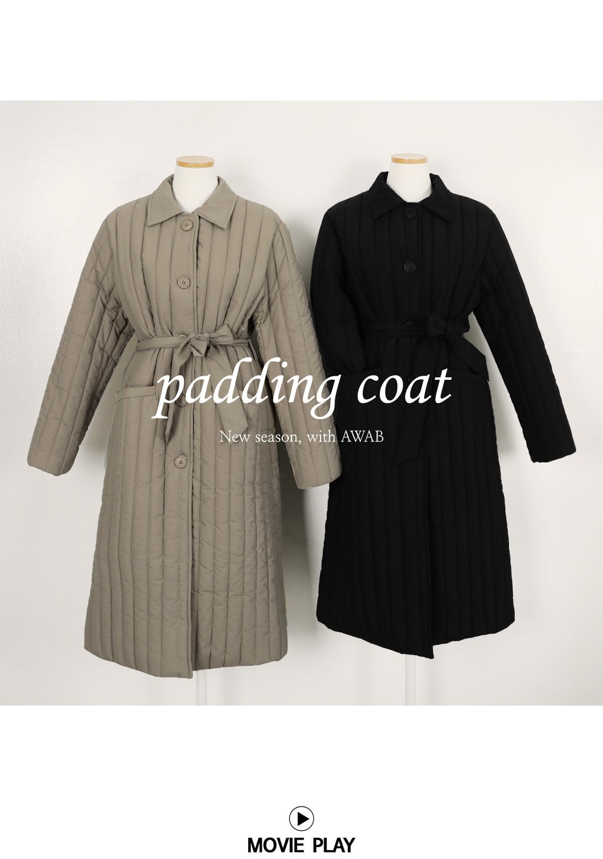 Withden padded long coat