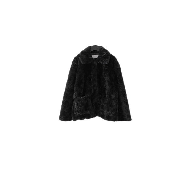 clean soft fake fur jacket