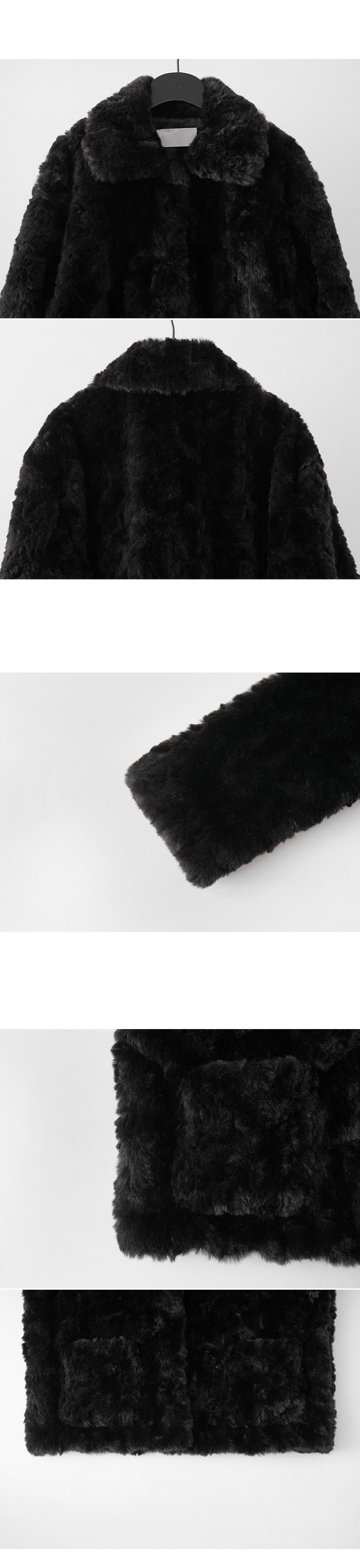 clean soft fake fur jacket (3colors)